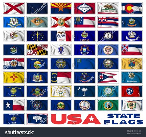 flags of the world united states united states america states flags collection stock