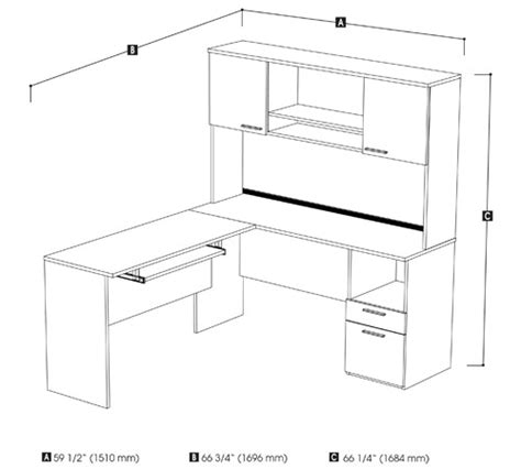 L Shaped Desk Dimensions Flare L Shaped Desk With Storage Smart Furniture