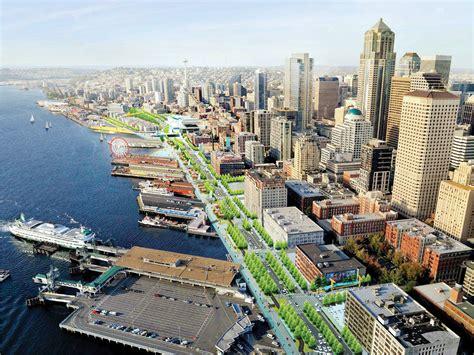 Steps Design by Seattle Waterfront Transformation Prepares To Break Ground
