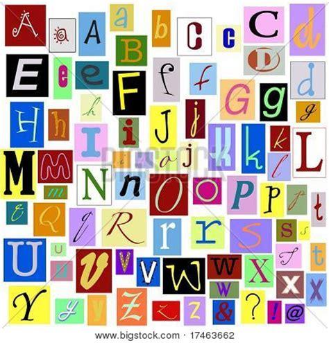 printable magazine letters alphabet magazine letters isolated image photo bigstock