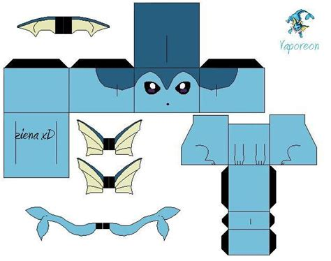 Glaceon Papercraft - papercraft vaporeon images images