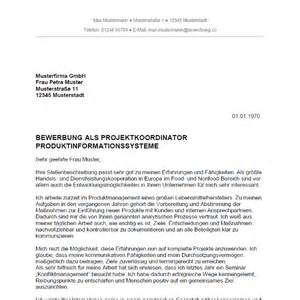 Bewerbung Initiativbewerbung Ingenieur Bewerbung Als Projektkoordinator Projektkoordinatorin Bewerbung Co