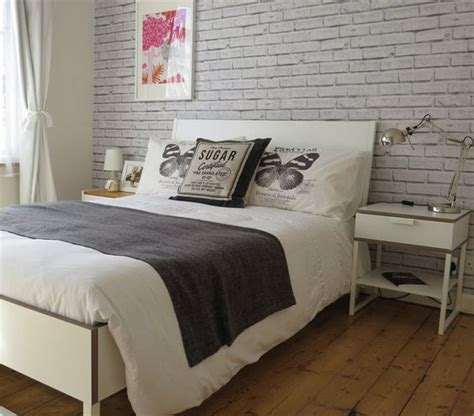 brick wallpaper bedroom love the brick wallpaper behind anna s trysil bed at