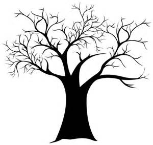 Free Tree Templates Fingerprint Tree Templates Fingerprint Tree Generator