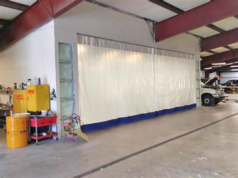 paint booth curtain walls industrial curtains divider walls enclosures partitions