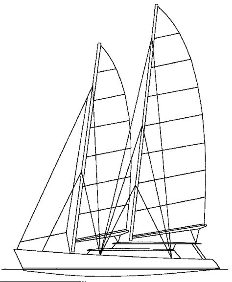 catamaran drawing 75ft schooner catamaran