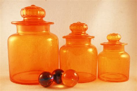 canisters extraordinary orange canister set kitchen