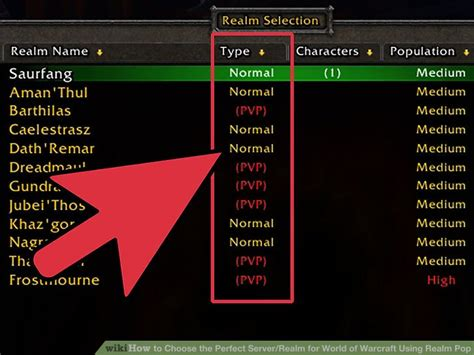 best wow server how to choose the server realm for world of