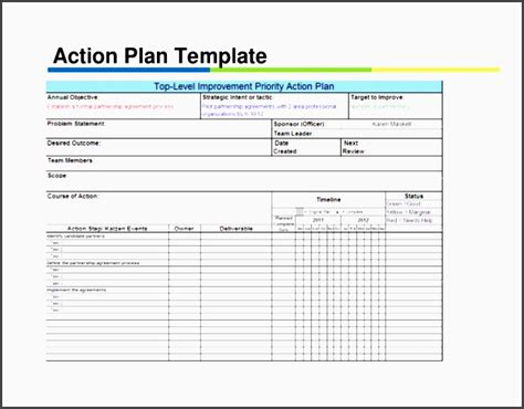 5 Action Plan For Employees Sletemplatess Sletemplatess Excel Plan Templates For Employees