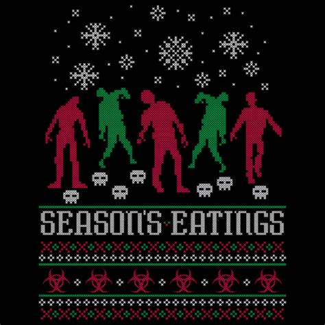 zombie christmas sweater season s eatings sweater t shirt zombiegift