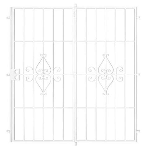 Security Patio Doors Home Depot by Su Casa 96 In X 80 In White Outswing Patio Security Door