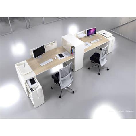 configuration bureau bureau op 233 ratif droit logic bois naturel et blanc