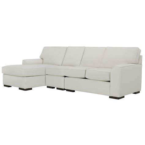 White Fabric Sectional Sofa With Chaise City Furniture White Fabric Small Left Chaise