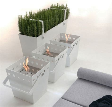 portable ethanol fireplace with an aroma diffuser digsdigs