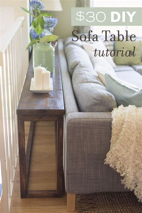 sofa table behind couch 30 diy sofa console table tutorial jenna sue design blog