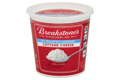 low cottage cheese breakstone s small curd 2 milkfat lowfat cottage cheese