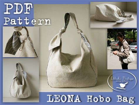 B4 Zip Handphone Pouch Sling Bag pdf sewing pattern to make hobo bag sling tote leona instant