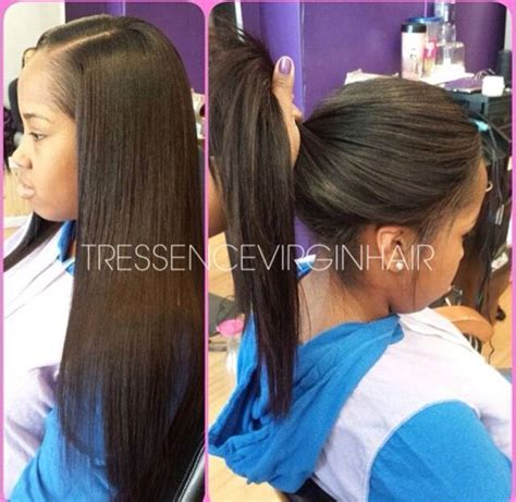 straight hair sew in styles 153 best weave hairstyles images on pinterest