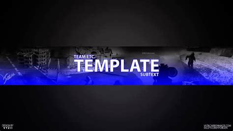 Fully Customizable Yt Banner Template Youtube Yt Banner Template