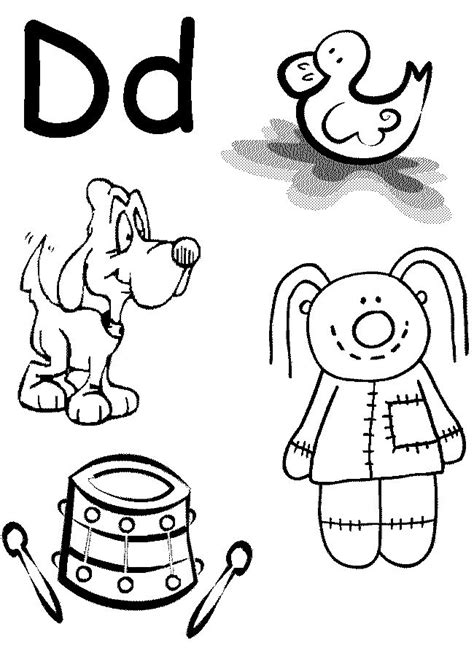 C Coloring Pages Preschool by Letter D Worksheet Preschool At Home