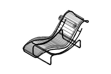 chaise dwg bloques cad autocad arquitectura 2d 3d dwg
