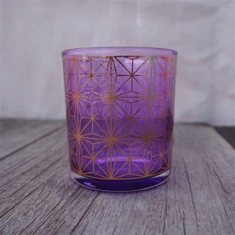 purple glass votive ae creative
