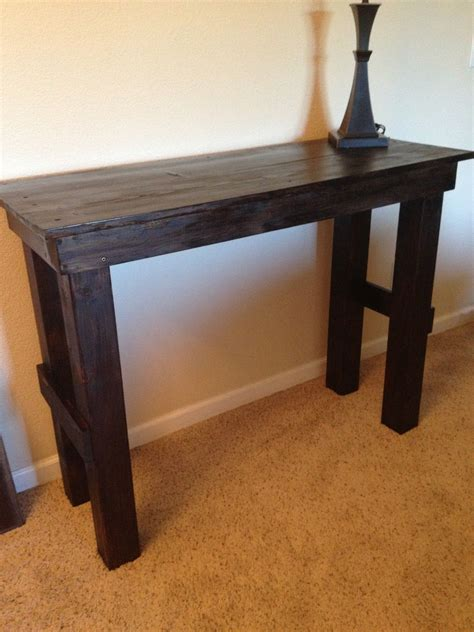 diy simple entry table   build sturdy solidwood