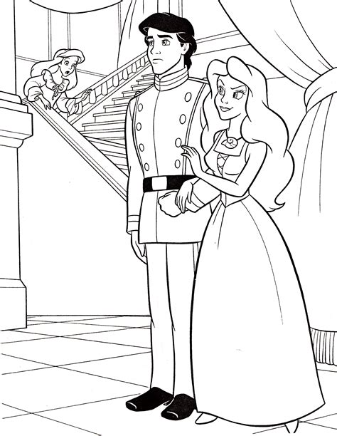 Walt Disney Coloring Pages Princess Ariel Prince Eric Prince Coloring Pages