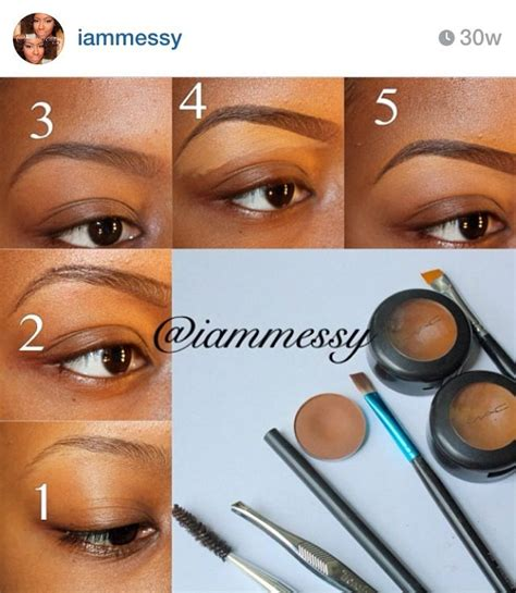natural eyebrow makeup tutorial for beginners 71 best natural makeup for black women images on pinterest