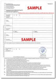 german birth certificate template certificates de forklift en yuma i t c india