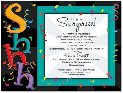 surprise birthday invitation templates surprise birthday party