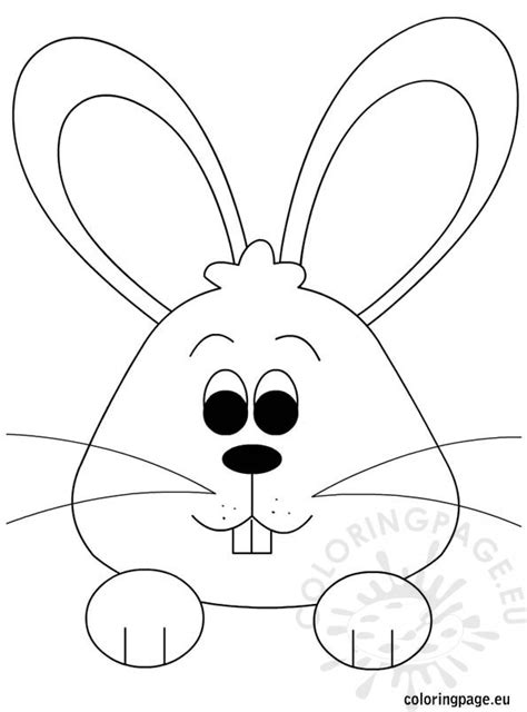 easter bunny face coloring pages to print easter bunny coloring page