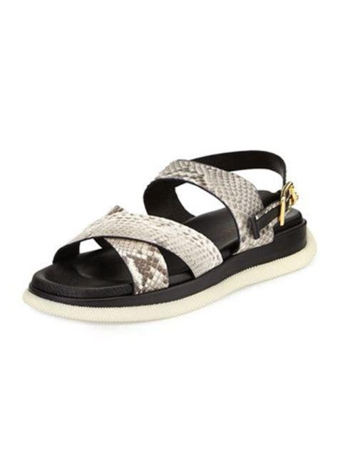 versace sandals sale versace versace s leather snake print sandal shoes