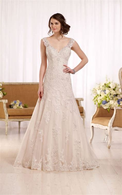 a line wedding dress with embellished sweetheart neckline