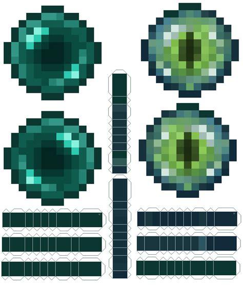 Minecraft Papercraft Ender - ender pearl by koolkoopz on deviantart