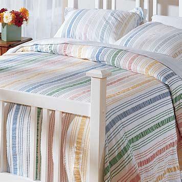 seersucker coverlet bedspread pastel striped seersucker sham orvis