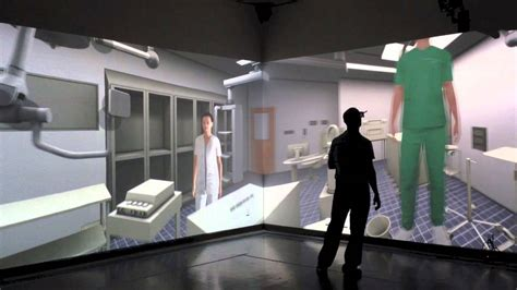 vr room vizmove projection vr operating room design review