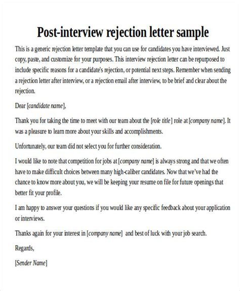 thank you letter after rejection employer 40 sle thank you letters