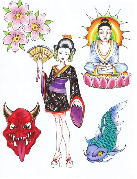 free tattoo flash japanese tattoo designs by june cohen