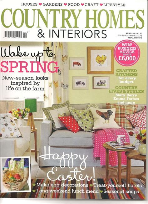 country home and interiors magazine in the press