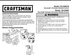 craftsman garage door opener programming craftsman garage door remote programming guide 13953681b
