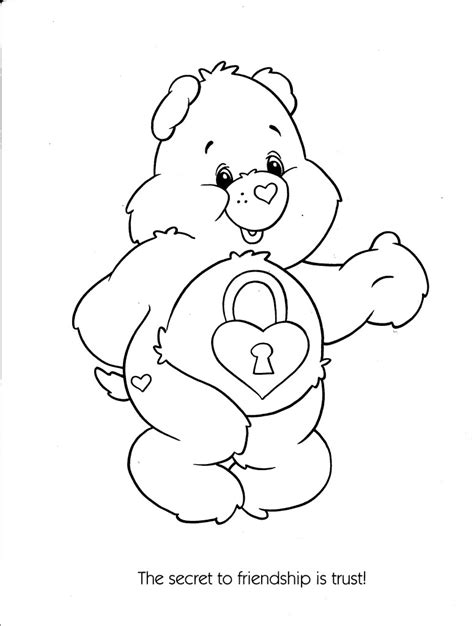 care bear coloring page free care bears cousins coloring pages