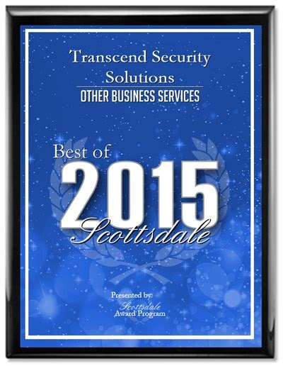 transcend security solutions receives 2015 best of
