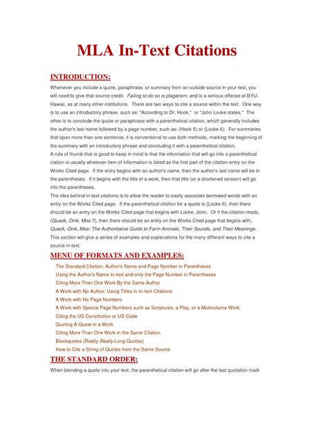 Mla Citation Format Essay by Mla In Text Quotes Quotesgram