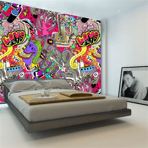 painting graffiti on bedroom walls popular urban art wallpaper buy cheap urban art wallpaper