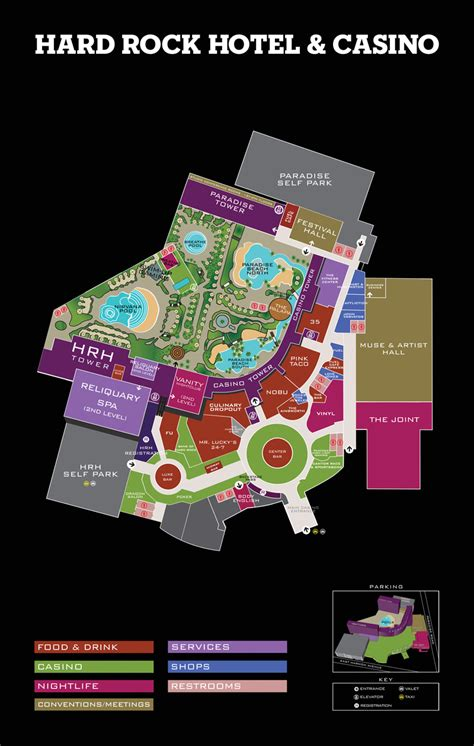 hard rock cafe layout design property map hard rock hotel and casino las vegas