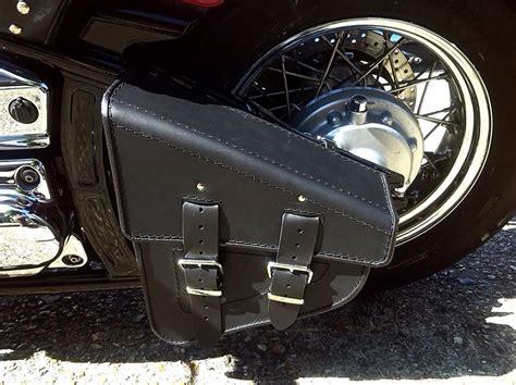 harley davidson swing arm saddle bag swingarm solo single sided pannier saddle bag leather