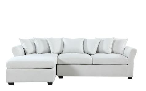 Joanne Linen Sectional With Wide Chaise Lounge Sofamania Com Large Chaise Lounge Sofa
