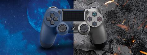 New Dualshock 4 Midnight Blue introducing the new steel black and midnight blue dualshock 4 controllers out 7th march