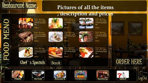 layout menu touch screen table top touch restaurants menu youtube